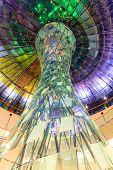 Colourful glass coloumn