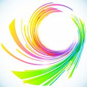 Abstract rainbow stripes vector shining background