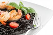 Black Spaghetti With Shrimps