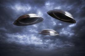 image of ovni  - Photo of three UFO