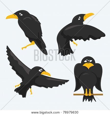Постер, плакат: Crow Cartoons, холст на подрамнике