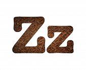 Letter Z Rusty Metal.