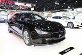 Bangkok - November 28: Maserati Ghibli Car On Display At The Motor Expo 2014 On November 28, 2014 In