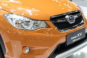Bangkok - December 3:colsed Up Lighting Of Subaru Xv Car At The Motor Expo 2014 On December 3, 2014