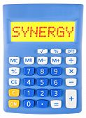 Calculator With Synergy  Isolated On Display