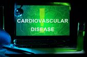 Notebook with words cardiovascular disease
