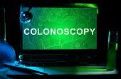 Notebook with words colonoscopy