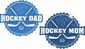Hockey Mom and Dad Parent Stamps