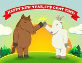 Happy New Year,it's Goat Time Sunshine