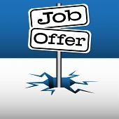 Job offer signpost