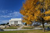 Washington DC - Abraham Lincoln Memorial in Autumn - United States of America