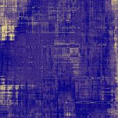 Art vintage background with space for text and different color patterns: yellow; blue; violet