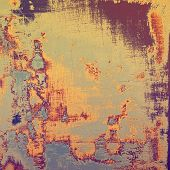 Aging grunge texture designed as abstract old background. With different color patterns: yellow; gray; purple (violet); orange; blue