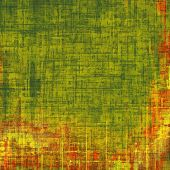 Background in grunge style. With different color patterns: green; orange; brown; yellow