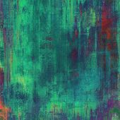 Antique grunge background with space for text or image. With different color patterns: green; orange; blue; violet