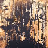 Weathered and distressed grunge background with different color patterns: black; gray; brown; yellow