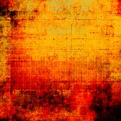 Old scratched retro-style background. With different color patterns: red; orange; yellow
