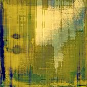 Old grunge background with delicate abstract texture and different color patterns: yellow; gray; brown; green; blue