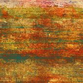 Retro background with old grunge texture. With different color patterns: green; orange; brown; yellow