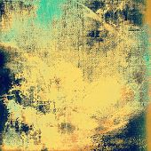 Old ancient texture, may be used as abstract grunge background. With different color patterns: yellow; blue; beige; cyan