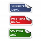 Weekend deal stickers
