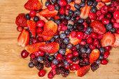 Berries On Cutting Board