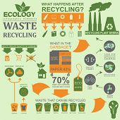 Environment, Ecology Infographic Elements. Environmental Risks, Ecosystem. Template