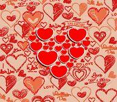 wedding invitation, card for Valentine Day 1