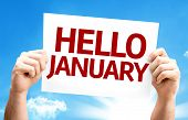 Hello January card with a beautiful day