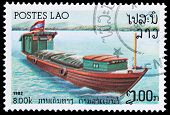 Stamp Printed In Laos