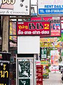 Shop Signs In Pattaya, Thailand