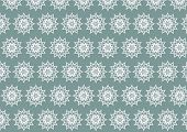 Silver Retro Bloom And Arrow Shape And Lobe Pattern On Pastel Background