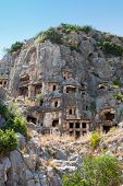 Rock tombs in Myra, Demre, Turkey