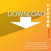 Download Icon Symbol Flat Modern Web Design With Long Shadow And Space For Your Text. Vector