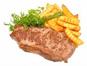 Fried Steak And Chips