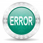 error green icon, christmas button