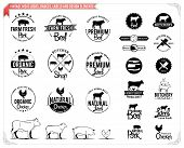image of working animal  - Lots of butchery design elements for your work - JPG