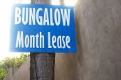 Bungalow month lease information