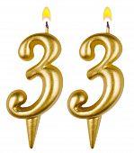 Birthday Candles Number Thirty Three