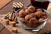 Italian cookies Florentino with raisins and walnuts
