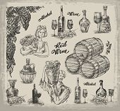 Wine. A collection of sketches on wine making