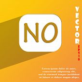 No Norway Translation Icon Symbol Flat Modern Web Design With Long Shadow And Space For Your Text. V