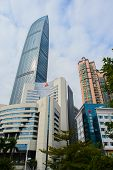 SHENZHEN - DEC 12: ShenZhen downtown on December 12, 2014 in Shenzhen, China. ShenZhen is regarded as one of the most successful Special Economic Zones.
