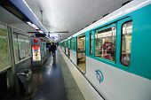 PARIS - SEP 04: Paris metropolitain interior on September 04, 2014 in Paris, France. The Paris metro or metropolitain is a rapid transit system in the Paris metropolitan area