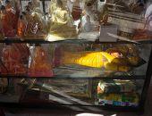 Plastic Buddhas On Display