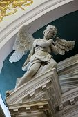 DOBROTA, MONTENEGRO - JUNE 09, 2012: Angel, Catholic Church Saint Eustache in Dobrota, Montenegro, on June 09, 2012