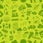 Environment, Ecology Seamless, Pattern. Environmental Background