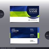 Abstract creative business card.  Vector.