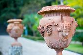 stock photo of garden sculpture  - Close - JPG