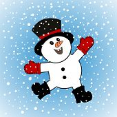 Happiest snowman alive